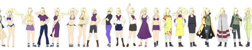 Ino Yamanaka Outfit Color NARUTO SHIPPUUDEN by SunakiSabakuno