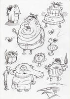 Random sketches 1 by lewstringer
