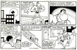 First Macho Man strip 1986 by lewstringer