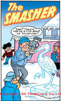 Opening panel for The Smasher (Dandy Annual 2013) by lewstringer
