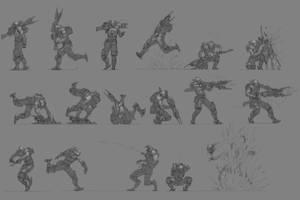 Tech Demo Male Main Character Motion Sheet by openanewworld