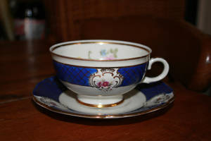 Teacup 01 with Saucer Stock by Skitsofrenika-Stock