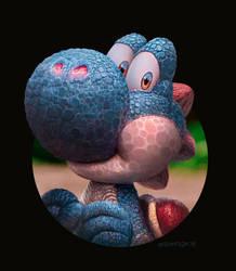 Blue Yoshi by edsfox