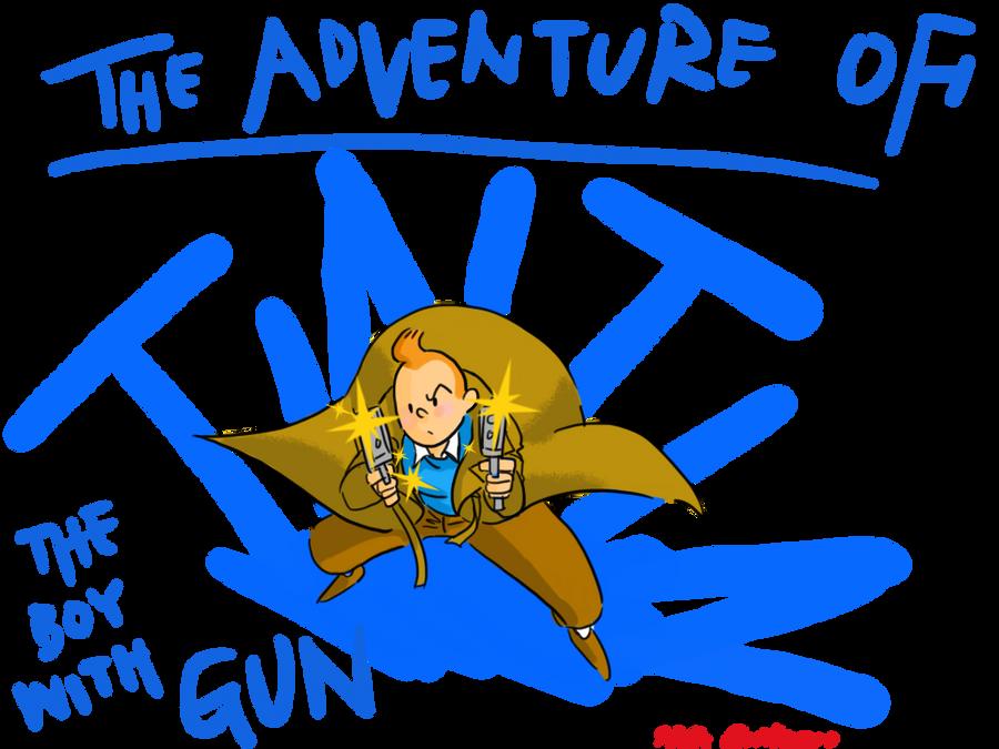 Tintin-the boy with gun by SAcommeSASSY