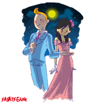 Tintin-moon festival by SAcommeSASSY
