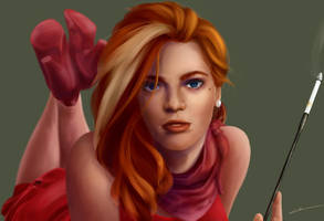Raelynn Awesomenauts femme fatale by ElleDrawsAndStuff