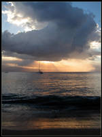 Sunburst Over Maui 2 by AngusMacRath