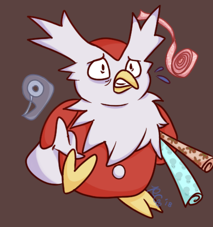 Frantic Delibird by Rabies-the-Squirrel