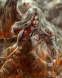 Kiriban 1M and 10 years : Sephiroth by NanFe