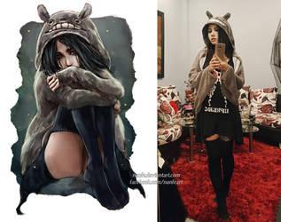 this Totoro cloak OOTD by NanFe