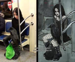 goth subway by NanFe