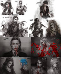 book characters sketches I by NanFe