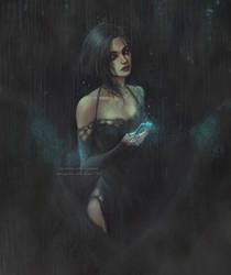 she was in the rain by NanFe
