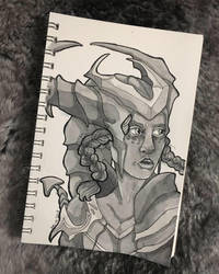 Inktober 2018 | Shyvana by Western-Witch
