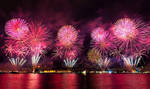 Firework at Bosphorus of Istanbul - Turkey by RRESPECTT