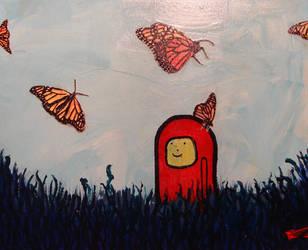 Meep Loves Butterflies by Shakra2