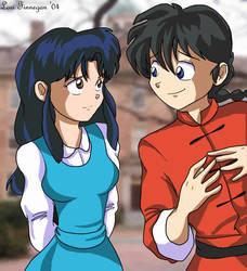 Akane and Ranma by irishgirl982