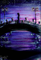 Bridge At Twilight by 0palesque