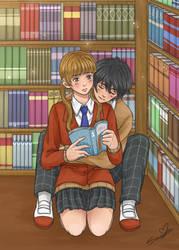 Romance at the Library (Shizuku x Haru) by SousouKg
