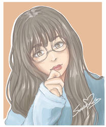Ulzzang with glasses PORTRAIT by SousouKg