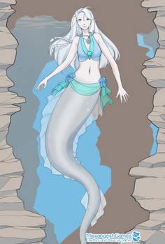 Lakeside Love: Selena the Silver Water Naga by SassyScales