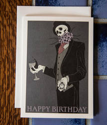 Morbid Birthday Card by Robertwarrenharrison