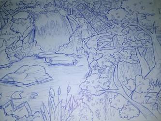 otro Background al estilo Crash Bandicoot by Lucrash