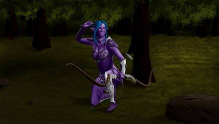 Night Elf hunting by jr248