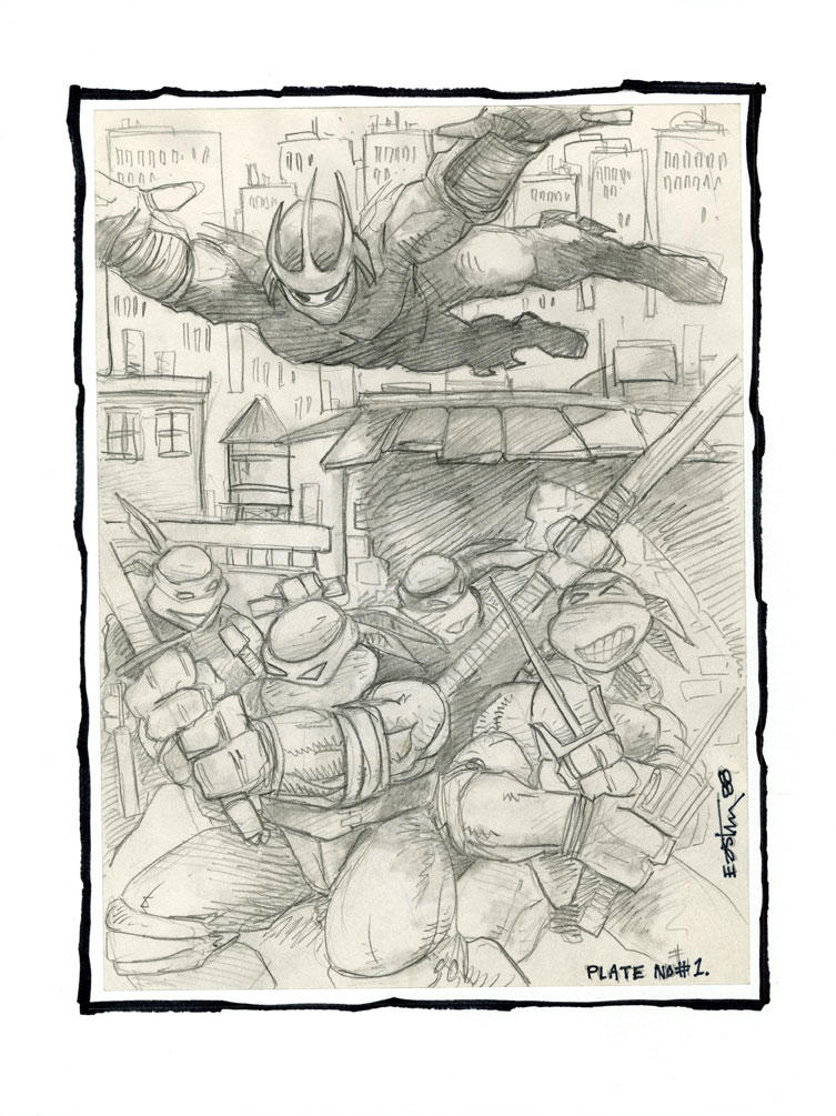 TMNT #1 Portfolio Plate by Kevineastman