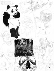 004 Pandas and Flies by smygba