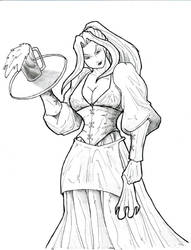 Harmony The Barmaid by Jedahl