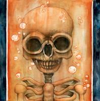 Laboratory liquid skull by Giulianobuffi