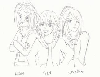 XCX - Roseu, Yelv, and Natasha as kids by Kohaku-the-Conqueror