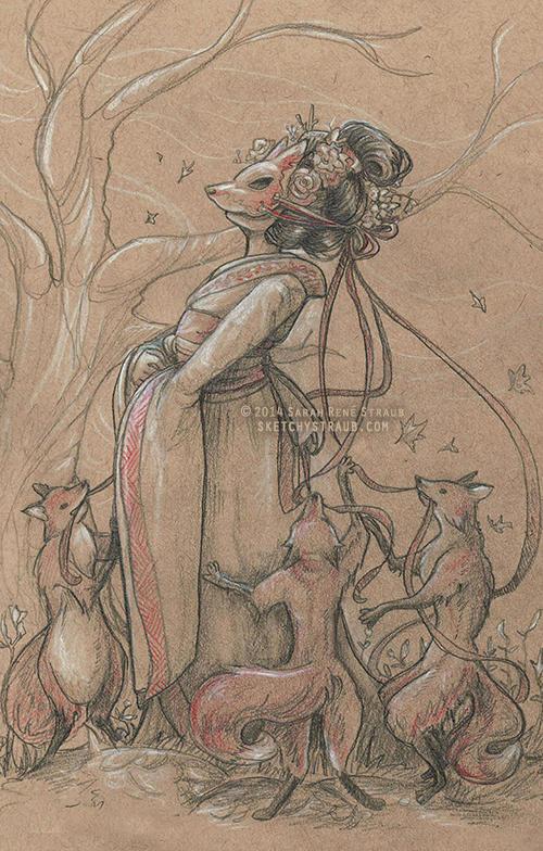 The Fox Bride by sketchykraft