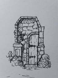 Overgrown Medieval Door - 2015 by HusseinHorack