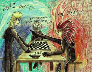 Axel_vs_Demyx_chess match by Dark-Primrose-11