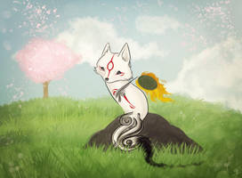 Tiny Okami by Zolfyer