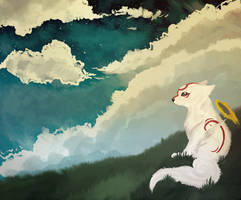 Puppy Amaterasu by Zolfyer