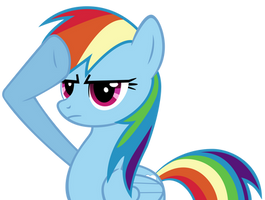 Rainbow Dash Salute by AtomicGreymon