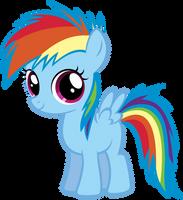 Young Rainbow Dash by AtomicGreymon
