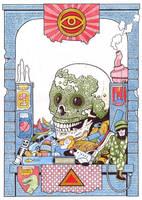 Mosaic Skull Idol by timmolloy