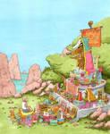 Monkey Shrine by timmolloy