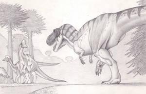 Tyrannosaurus V by Mingott