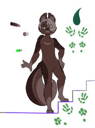 new furry oc (color reference sheet) by Tikimillie