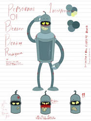 Personal interpritation and headcanon of Bender by Tikimillie