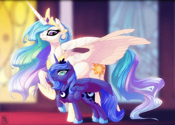 [MLP]: Celestia and Woona by T0xicEye