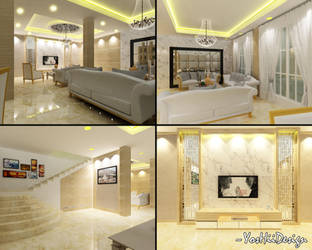 Italian Royal Living Room Full View by ForevaloneJackk