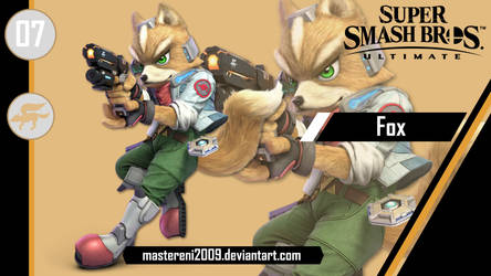SSBU Custom Wallpaper #7 - Fox by MasterEni2009