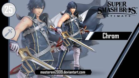 SSBU Custom Wallpaper #25E - Chrom by MasterEni2009