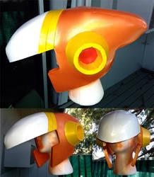 Crash Man cosplay: Helmet by ShaeEldera